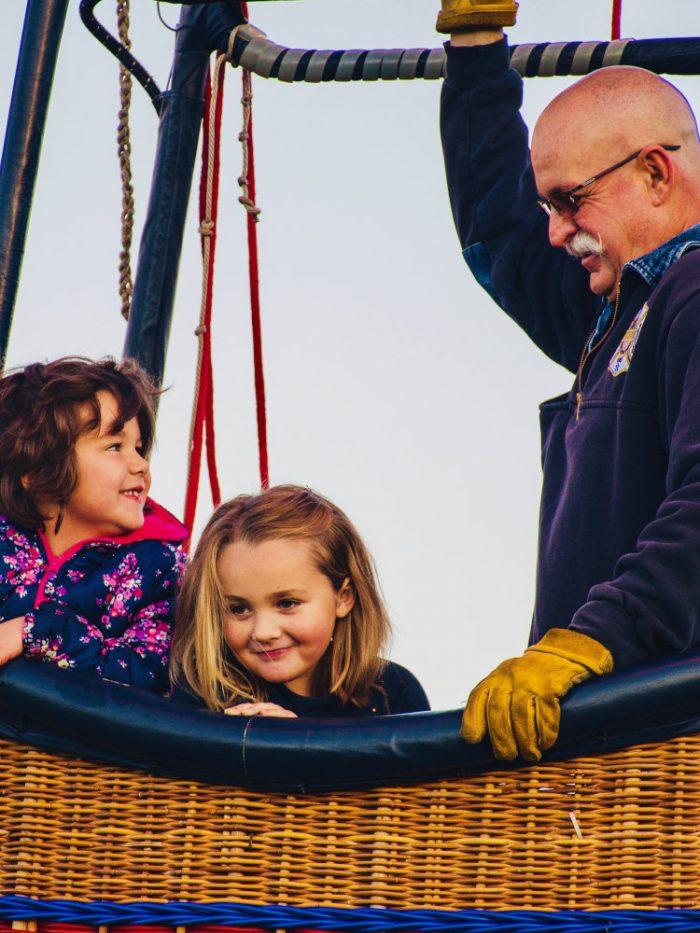 Balade en montgolfière en famille