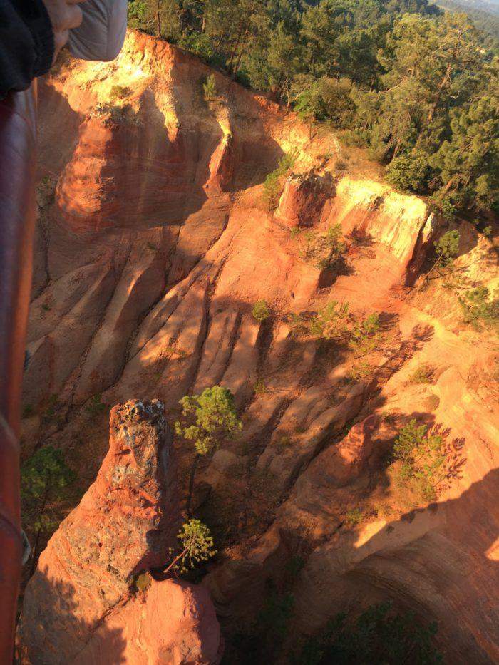 Les Ochres de Roussillon d'une montgolfière